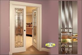 etched glass pantry doors interior double doors with leaded glass inserts primed and ready