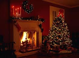 christmas tree and fireplace backgrounds u2013 happy holidays