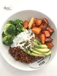cuisiner les brocolis assiette complète lentilles patate douce brocolis et avocat