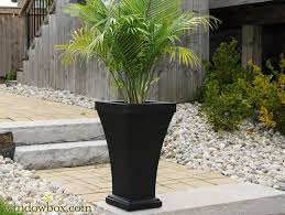 patio planter vinyl patio planters for outdoors