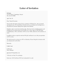 Thank You Letters For Business by Sample Invitation Business Letter Sample Invitation Letter For