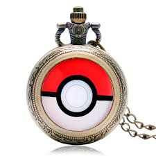 pocket watch chain necklace images Hot monster anime cosplay pocket watch chain men boy cool quartz jpg