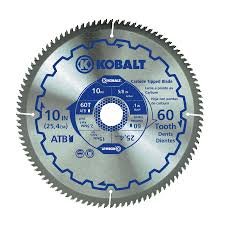 shop kobalt 10 in 60 tooth segmented carbide circular saw blade at