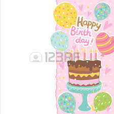 happy birthday card background with cakes and ice cream vector