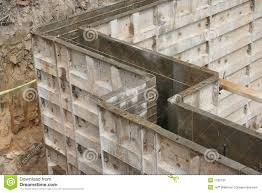 wall forms molds for concrete stock photography image 7788732