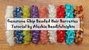 hair barrettes gemstone chip beaded hair barrettes tutorial
