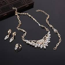 rhinestone necklace set images 18k gold plated fashion rhinestone necklace set jpg