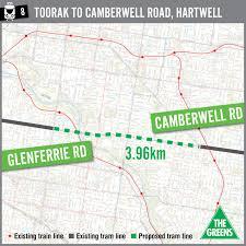 Melbourne Tram Map Fill Missing Tram Links Australian Greens