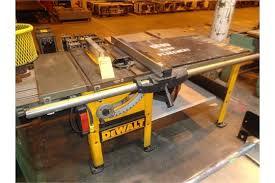 dewalt table saw dw746 choice of lots 855 856 p dewalt dw746 10 table saw