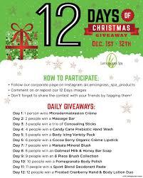 giveaway play 12 days christmas game with lemongrass spa