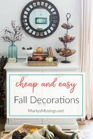 cheap and easy fall decorations for your home