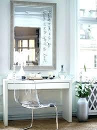Clear Vanity Table Clear Vanity Chair Smc