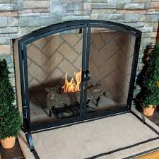 Wrought Iron Patio Doors by Vintage Fireplace Screens With Doors For Family Room Ward Log Homes