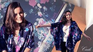 patron veste kimono diy couture comment faire un kimono en 30 minutes cecile youtube