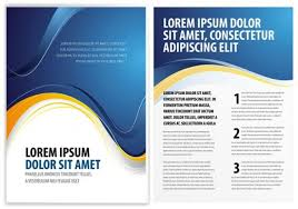 classy blue abstract brochure vector template welovesolo