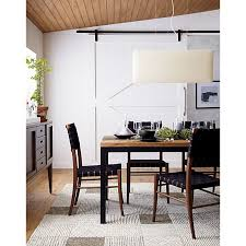 crate and barrel parsons dining table oslo side chair parsons dining table with teak top finley pendant