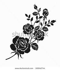 Rose Flower Design Royalty Free Flower Design Elements Vector 291268175 Stock Photo