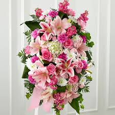 cheap funeral flowers the ftd gently into the after standing spray