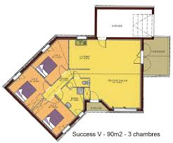 plan maison plain pied 5 chambres plan maison de plain pied gratuit maison ossature bois projet 09