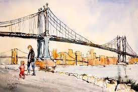 new york city urban sketchers sketching in brooklyn heights