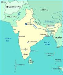 map of nepal and india map of india