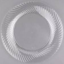 clear plastic plates visions wave 10 clear plastic plate 144