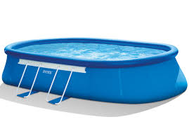Intex Inflatable Swimming Pool 20ft X 12ft X 48in Oval Frame Pool Set Intex