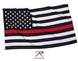 Flag Hanging The Thin Red Line Polyester Hanging Flag Fireman Support Usa