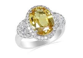 beautiful rings design images Beautiful yellow sapphire diamond ring oval yellow sapphire jpg