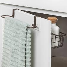 over cabinet door towel bar add the over cabinet door basket with towel bar to any cabinet door