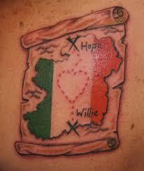 Two Flag Tattoos Ireland Tattoos Fox Tattoo Designs