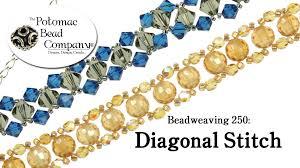youtube beads bracelet images How to make a diagonal stitch bracelet beadweaving 250 jpg