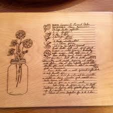 cutting board with recipe engraved 227 best my etsy shop come for a visit images on