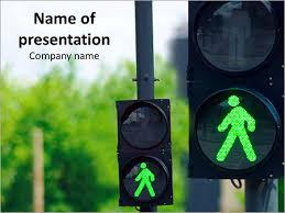 green traffic light powerpoint template u0026 backgrounds id