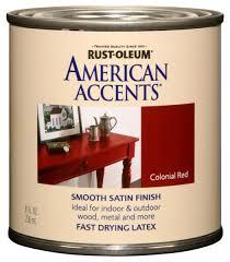 rust oleum 7921730 american accents 1 2 pint latex satin heirloom