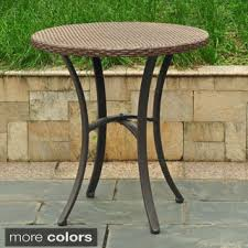 small round outdoor side table fair outdoor patio side table for hton bay gray outdoor side