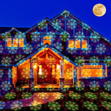 outdoor light projector snowflakes