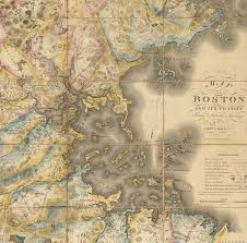 superb map of the boston area by john g hales rare u0026 antique maps