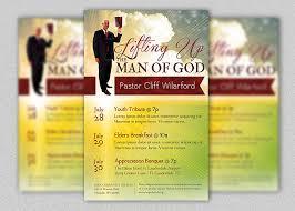 Church Programs Templates Pastor Appreciation Church Flyer Template Inspiks Market