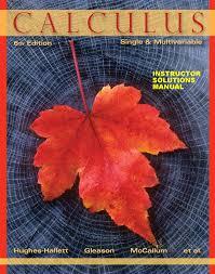 hughes hallett calculus single and multivariable 6th c2013