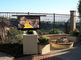 outdoor tv lift cabinet outdoor entertainment enjoy an outdoor television or set of outdoor