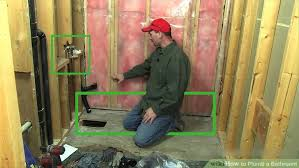 how to plumb a bathroom 11 steps with pictures wikihow