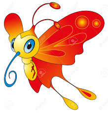 cartoon insect color butterfly royalty free cliparts vectors