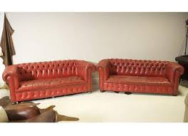 Vintage Leather Chesterfield Sofa Pair Of Leather Chesterfield Sofas Robinson Of