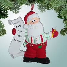 theme ornaments santa s list personalized free