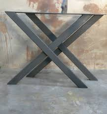Flat Bar Table Legs Price Is For Set Of 2 Material 2x1 14 Ga Squared Steel Tube Top