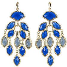 blue chandelier earrings kendra jewelry gold plated royal blue chandelier earri
