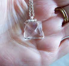 natural quartz crystal necklace images Natural quartz crystal pyramid wire wrapped pendant my mystic png