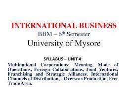 Universities As Multinational Enterprises The Multinational Unit 4 International Business 6th Semester Bbm Notes Pdf