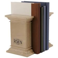 monogram bookends personalized bookends engraved bookends